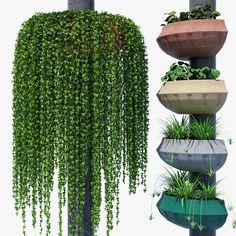flowerpot 750 3d model max obj fbx mat 1
