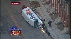 FedEx Truck Overturned in Baltimore City « CBS Baltimore