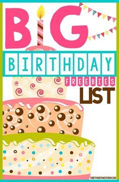 Big Birthday Freebie List for Restaurants, Retail Stores & Kids Birthday Freebies