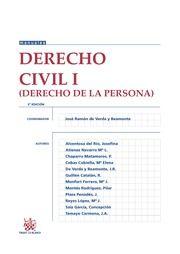 Derecho civil. I, (Derecho de la persona) / coordinador, José Ramón de Verda y Beamonte ; autores, Alventosa del Río, Josefina, ...et al.    2ª ed.    Tirant lo Blanch, 2016