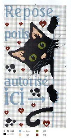 Cross-stitch Peek-a-Boo Kitty... Gallery.ru / Photos