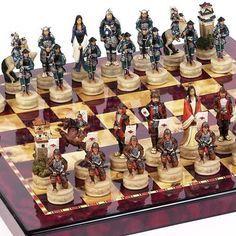 Samurai chess board Échec Et Mat, Chess Moves, Chess Set Unique, Ultimate Games, Kings Game, Chess Boards, Chess Pieces, Table Games, Chess Sets