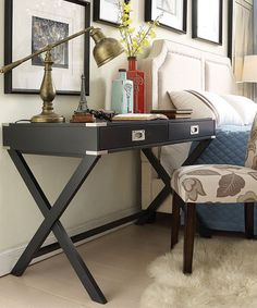 Another great find on #zulily! Midnight Concord Campaign Desk #zulilyfinds