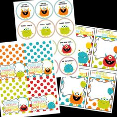 Monster Birthday Party Printables Package by shelleyspaperstudio, $16.00