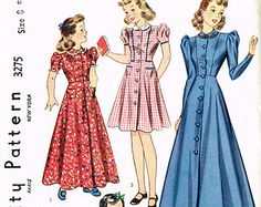 Check out our girls dress selection for the very best in unique or custom, handmade pieces from our dresses shops. Vintage Mode, 1930s, Vintage Dresses, Wrap Dress, Aurora Sleeping Beauty, Housecoat, Girls Dresses, Vintage Fashion, Popular