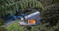 This New Rural House Sits On A Hillside In New Zealand Surrounded By Bush Land