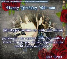 #HappyBDayHizakiandYuki por Miwa Masashi ~ Misterious Rose of Versailles~ (Fanpage) - Brazil