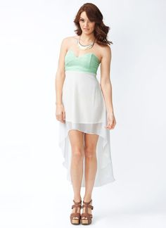 two-tone high-low dress $36.90