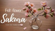 How to Make Felt Flower : Sakura (Cherry blossom)