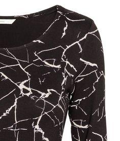 Short Jersey Dress | Black/marble | Ladies | H&M US