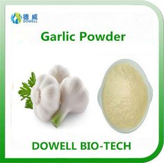 Garlic Powder - Dowell Bio-Tech focus on producing 100% pure natural fruit and vegetable powders by the advanced manufacturering technology. All the raw materials comply with organic standards, contains variety of vitamins and acids; With pure flavor, good taste, super water solubility, can be widely used in pharmaceutical and health care products, health food, infant food, beverage, dairy products, sport drinks and other fields.