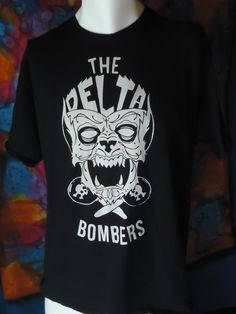 Vintage - The Delta Bombers - T-shirt - Black - XL