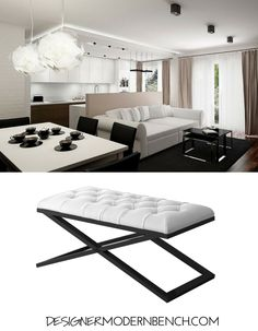 Modern Living Room Bench use it as a modern office bench! use it as a modern living room