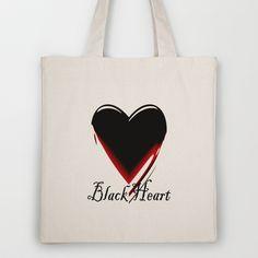 Black Heart Tote Bag by Fine2art - $18.00