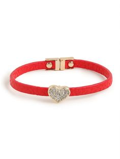 our red heart band bracelet!