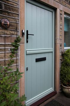 Flint composite stable door with top section closed.