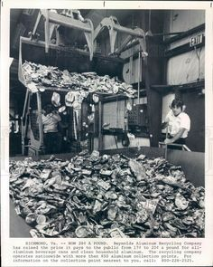 1979 Richmond VA Reynolds Aluminum Recycling Co Photo Aluminum Recycling, Richmond Virginia, Press Photo, History, Painting, Ebay, Vintage, Historia