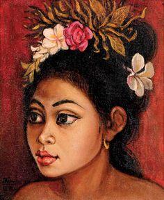 Alimin Tamin (Solok, 1932), Balinese Girl.