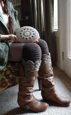Arte, técnica mixta, Crochet Lace piedra, Original, boda mesa de decoración, decoración del hogar, piedra grande, color Beige, Redish, hecho...
