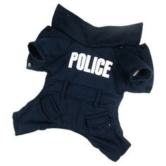 Cute Dark Blue Police Letter-Style Pet Jacket