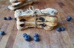 Grain-Free, Blueberry and Banana Dog Cookies