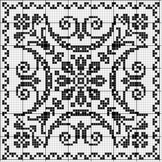 Bunches of cool medallion like patterns - would be great for cross-stitch! Square 30