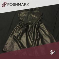 Black fake leather dress Worn once Forever 21 Dresses
