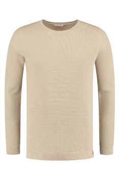 Knowledge Cotton Apparel Pique Crew Neck Knit in Light Feather Gray - 80483  1228 - MERKEN 71b9caa00