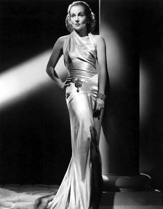 """The sultry """"Queen of Screwball Comedy,"""" Carole Lombard. - photo via Turner Classic Movies: TCM fb page"""