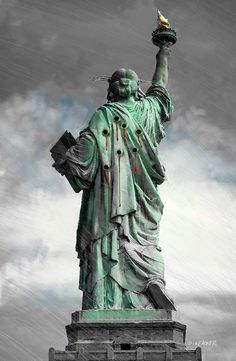 atatue of liberty Give Me Your Tired, Theatre Of The Absurd, Swing State, Political Art, Cartoon Memes, Satire, Location History, Statue Of Liberty, Monuments