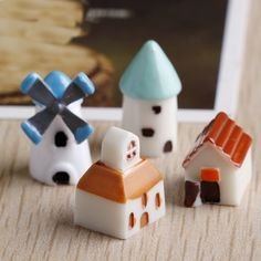 Micro Jard/ín Paisaje Vintage Mini Fairy Garden Maceta Miniatura Craft Micro Landscape Ornament Decor Small Villa