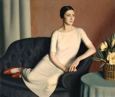 Meredith Frampton    Marguerite Kelsey    1928    Oil paint on canvas    1208 x 1412 mm