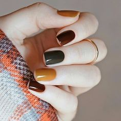 50 Stunning Short Nail Designs to Inspire Your Next Manicure in . - 50 Stunning Short Nail Designs to Inspire Your Next Manicure in Nail Designs Source by naildesigng. Fall Nail Art Designs, Short Nail Designs, Fall Designs, Gel Polish Designs, Cute Nails, Pretty Nails, Cute Fall Nails, Simple Fall Nails, Gorgeous Nails