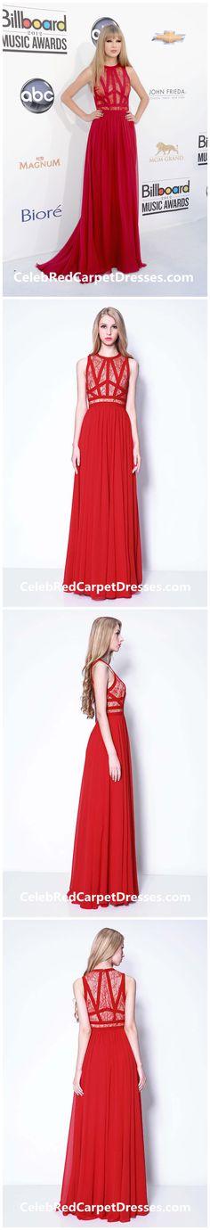 Taylor Swift Red Lace Chiffon Dress Billboard Music Awards 2012