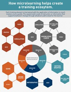 How Microlearning Helps Create a Training Ecosystem Infographic - e-Learning Infographics Adult Learning Theory, E Learning, Blended Learning, Learning Styles, Learning Targets, Problem Based Learning, Instructional Design, Instructional Technology, Instructional Strategies