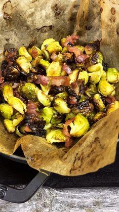 Rosenkohl im Ofen geröstet mit Bacon