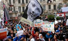 Egyptian women in an anti-Muslim Brotherhood protest in Cairo. The Brotherhood condemned the UN's declaration for women's rights. Photograph: Amr Nabil/AP