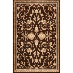 Natco Annora Brown 5 ft. x 7 ft. 6 in. Area Rug-3121BW58.023 - The Home Depot