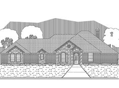 New American House Plan with 3101 Square Feet and 4 Bedrooms from Dream Home Source | House Plan Code DHSW63543