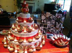 Grandmas 80th birthday cupcake table.