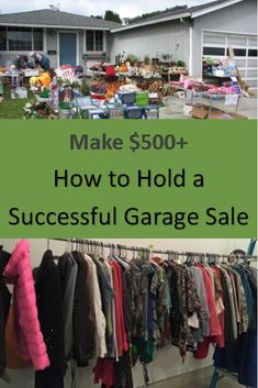 Is holding a garage sale worth it? Yes! Make money with a garage sale and find out how to hold a successful garage sale!