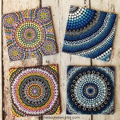 Aboriginal Dot Art Rainbow Painting, Acrylic paint on Canvas Board, Hand Painted…