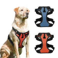 Dog Collars & Leads No Pull Dog Harness Adjustable Breathable Step In Walking Pet Mesh Harnesses For Medium Large Dogs Pitbulls Rose Red Black To Enjoy High Reputation In The International Market