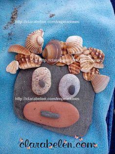 Verano: Manualidades y creatividad con piedras de la playa.