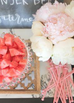 watermelon sangria bar