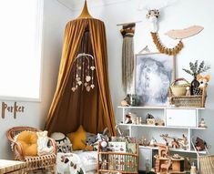 26 Adorable Kid Room Decor Ideas to Make Your Children's Space Fun - Di Home Design Baby Bedroom, Nursery Room, Girls Bedroom, Bedroom Decor, Bedrooms, Nursery Mobiles, Bedroom Ideas, Childs Bedroom, Room Baby