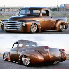 Hot Wheels - Damn @heirloom_collvins Chevrolet is so sweet, loving the ¾ rear shot and how those guards look! @goodguysrodandcustom #chevrolet #airsuspension #bagged #stance #hotrod #carporn #chopped #stance #streettruck #lowfastfamous