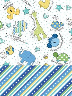 Fabric - Little One Flannels Blue 1-Yard Cuts - 2/pkg. - #277881