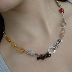 Necklace Sterling silver Short Red and gold Gemstone Wire Wrapped Mixed Jewelry Art, Jewelry Accessories, Jewelry Necklaces, Jewelry Ideas, Bracelets, Jamaican Colors, Silver Shorts, Crystal Beads, Sterling Silver Jewelry