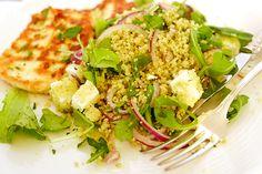 Couscous med grönt och fetaost